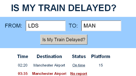 Is My Train Delayed